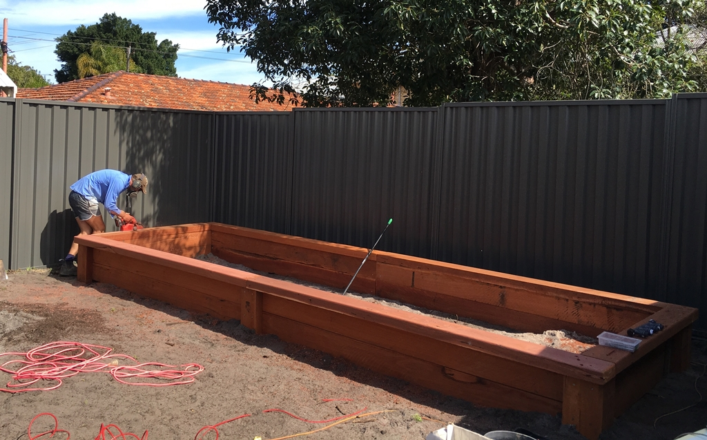 Garden Sleepers and retaining walls